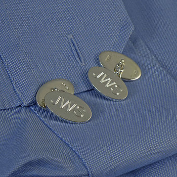 personalised silver cufflinks.