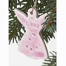 Personalised Angel with juicy lilac glaze
