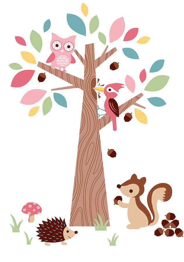 Forest Friends Wall Stickers By The Little Blue Owl