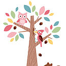 Forest Friends with Squirrel Wall Stickers