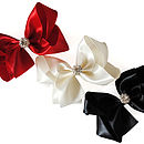 Satin Bow With Sparkly Crystal Centre