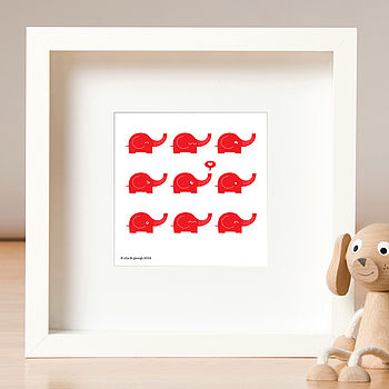 Herd Of Elephants Print
