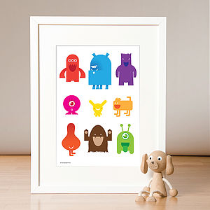Little Monsters Print - children's room