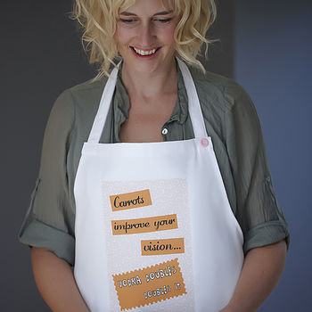 'Carrots Improve Your Vision…' Apron