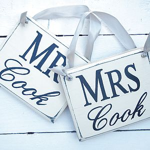 Personalised Mr & Mrs Monogram Wedding Signs - outdoor decorations