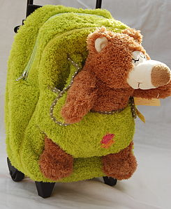 Kids Travel Bag With Cuddly Bear - children's accessories
