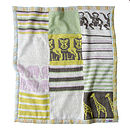 Animals Knitted baby Blanket Flat