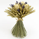 Cream Rose And Lavender Wheat Sheaf