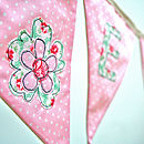 Girl's Personalised Flower Bunting