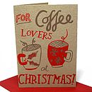 Pack Of Five Christmas Coffee Cards