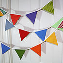 Patterened Party Bunting - Multi-coloured Boy