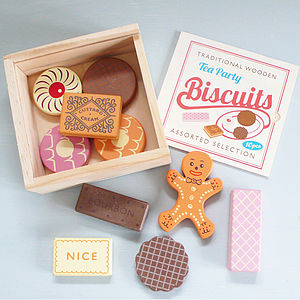 Traditional Wooden Tea Party Biscuits - gifts for children