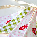 Personalised gingham spotty bunting