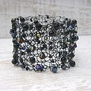 Hand Knitted Beaded Cuff Bracelet