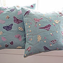 Butterflies Cushion - Duck-Egg Blue