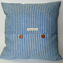 Butterflies Cushion - Blue and Yellow Back
