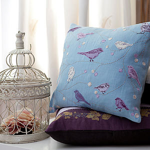 Birds And Berries Cushion