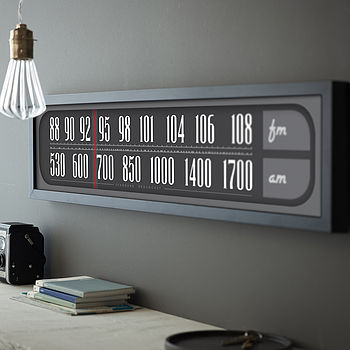 Personalised Retro Radio Dial Print
