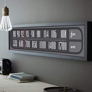Personalised Retro Radio Dial Print - gifts £50 - £100