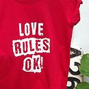red tee design close-up
