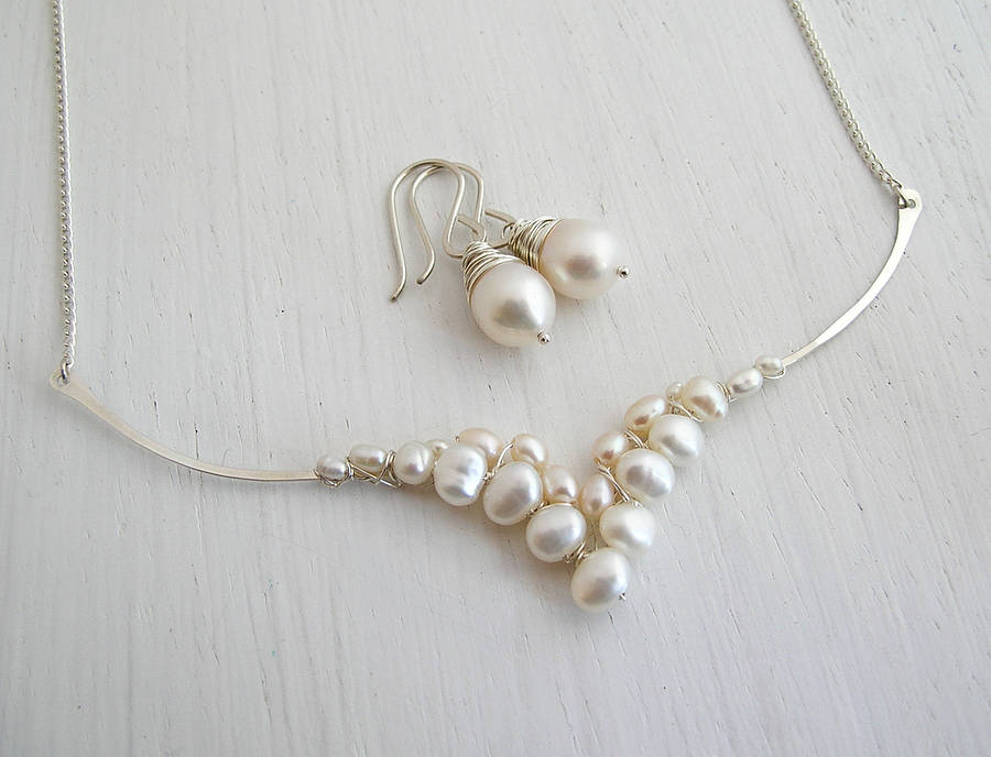 necklace id buy double set string sets souk trendy original pearls freshwater aristocratic