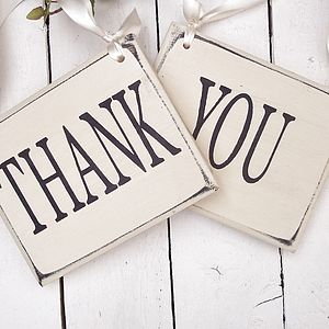 'Thank You' Vintage Style Wedding Signs - outdoor decorations