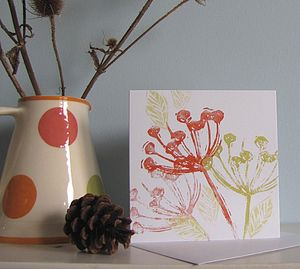 Autumn Seed Heads Card