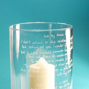 Personalised Engraved Glass Hurricane Lamp - candles & candlesticks