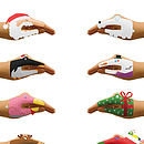 Festive Hands Temporary Tattoos