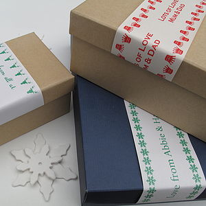Personalised Gift Wrap Band - wrapping