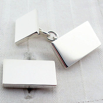 Solid Rectangle Chain Cufflinks