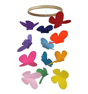 Rainbow Baby Mobile Butterfly - mobiles