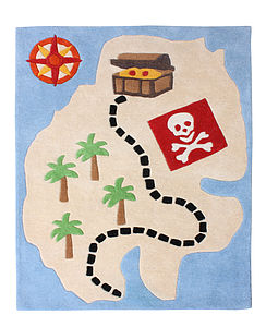 Pirate Rug - children's room accessories