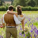 medium lavender wheat sheaf being held