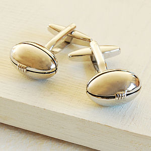 Rugby Cufflinks - men's jewellery