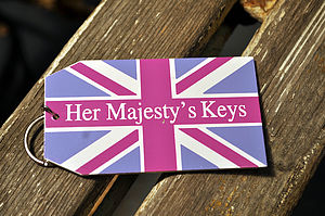 'Her Majesty's Keys' Key Ring - keyrings