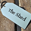 'The Shed' Wooden Key Ring