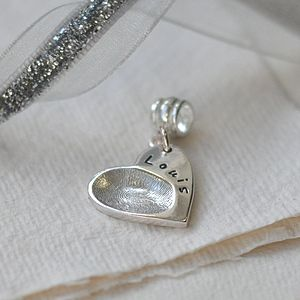 Silver Fingerprint Charm - women's jewellery