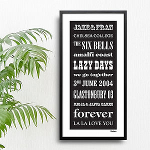 Personalised Favourites And Memories Print