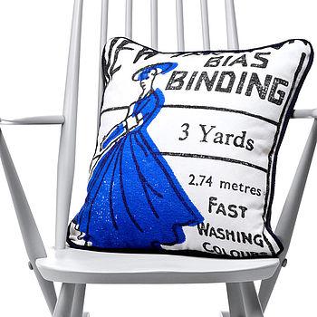 Sewing Lady Cushion