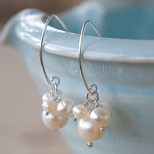 Mini Pearl Cluster Earrings - gifts for her