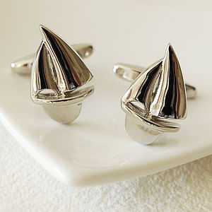 Sailboat Cufflinks - men's jewellery