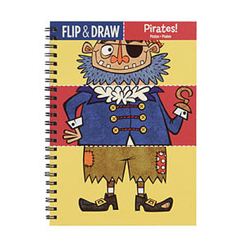 Flip And Draw Pirate Colouring Notebook