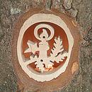 Nordic Christmas Candle Wooden Log Tea Light Holder