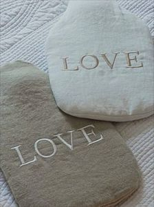 'Love' Hot Water Bottle - hot water bottles & covers