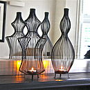 Pair Of Sculptural Wire Tea Light Holders