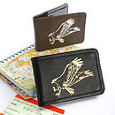 Printed Leather Osprey Card Holder