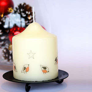 Christmas Robin Candle - tableware