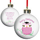 Personalised Teacher Bauble - Three Colours