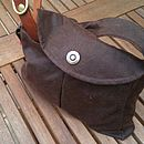 Brown Wax Cotton Hold it All Bag
